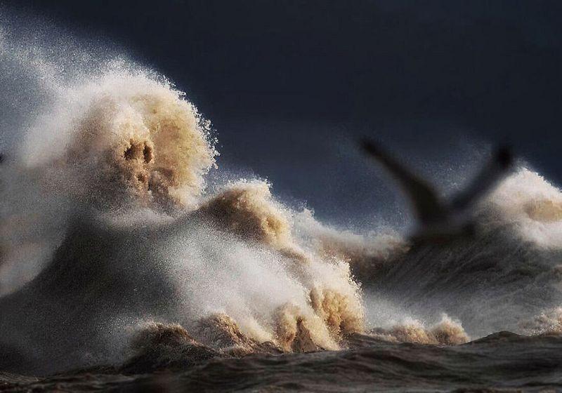 шторм на озере Эри