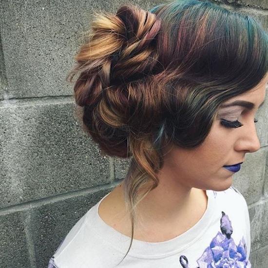 цвет волос пятна нефти