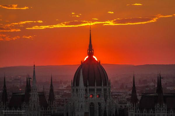 закат в Будапеште