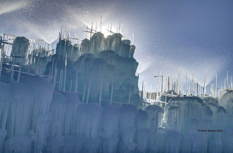 замки из льда