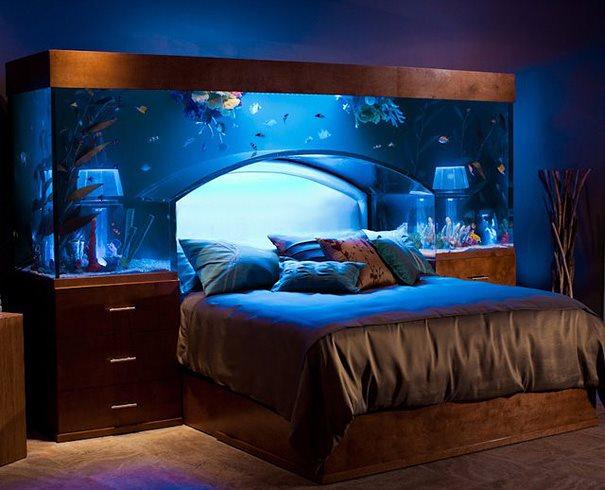 Кровать аквариум