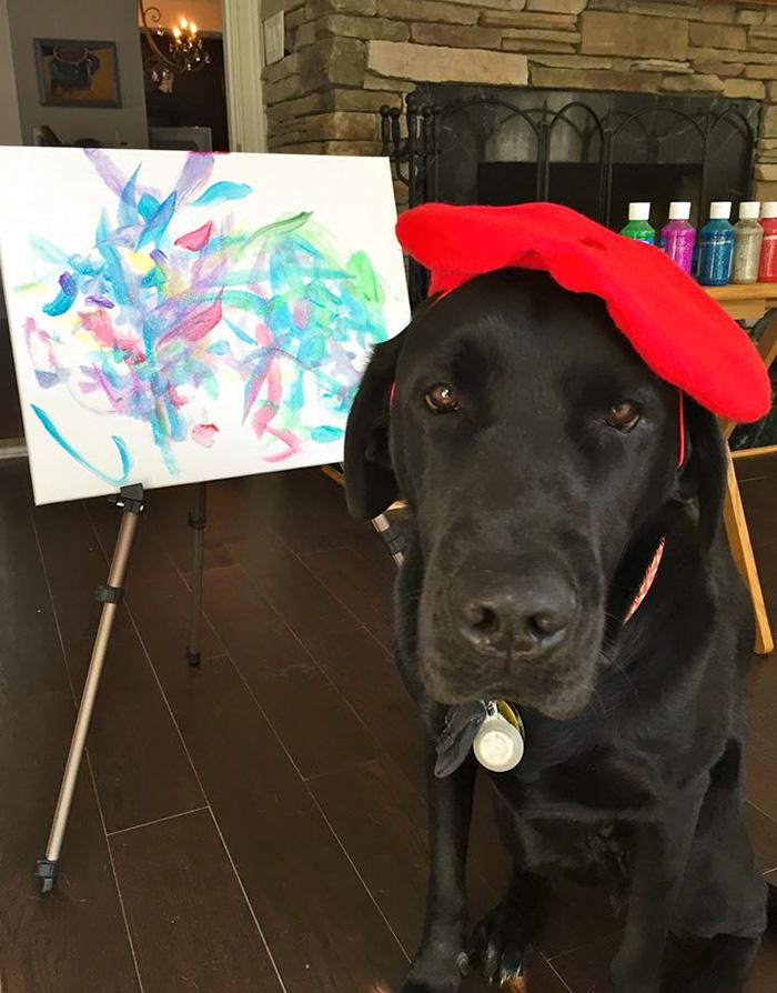 пес-художник