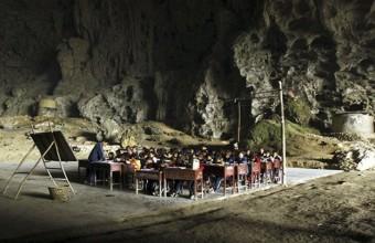 школа в пещере Китай