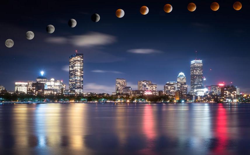 луна в сентябре 2015 Бостон