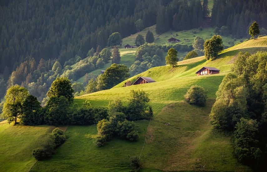 альпийская деревня фотография