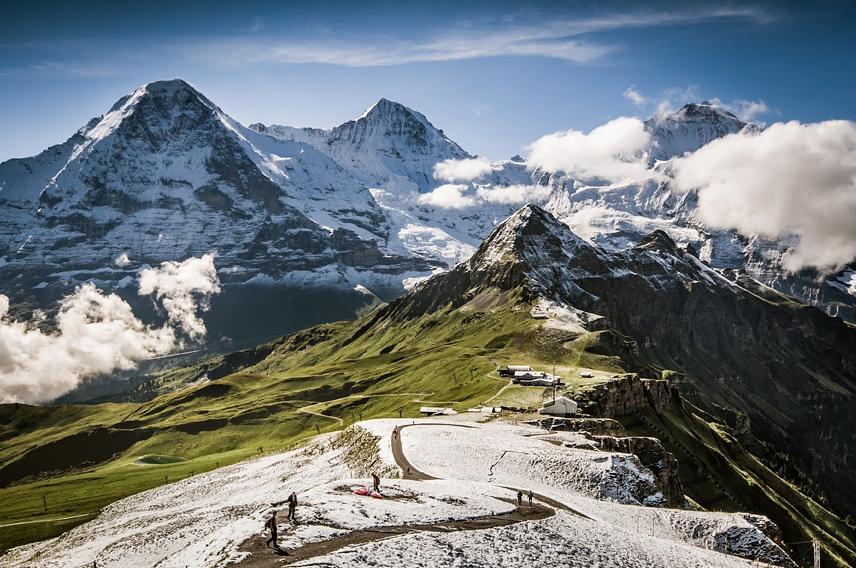 фотографии Альп в Швейцарии