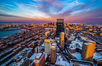 фотографии городских кварталов Бостона
