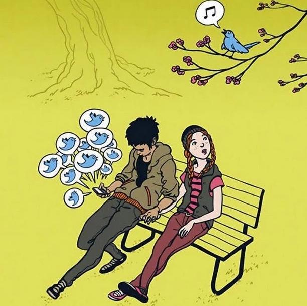 карикатура на твиттер