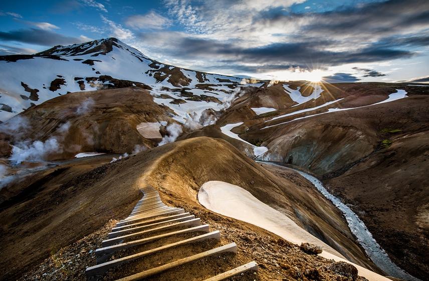лестница в горы Исландия