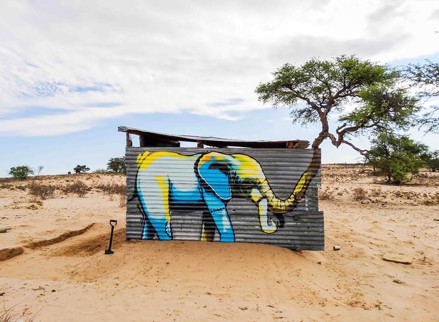 стрит арт в африке