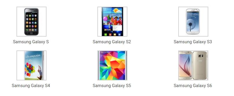 телефоны семейства Samsung
