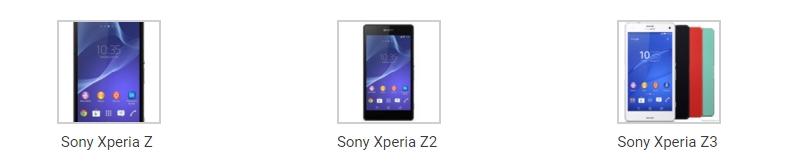 телефоны семейства Sony