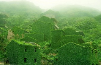 заброшенная деревня в Китае