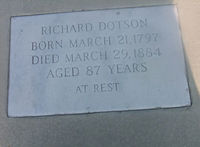 надгробная плита семьи дотсон
