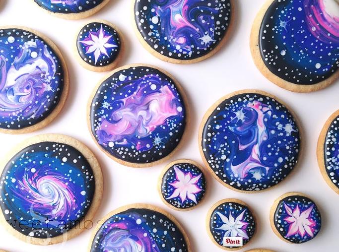 необычное печенье на тему космоса