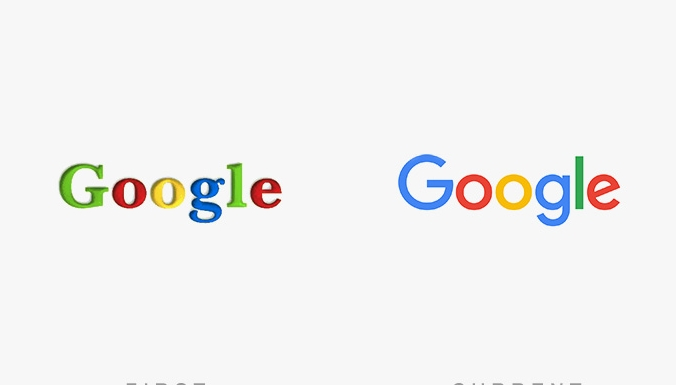 первый логотип google