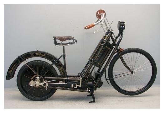 первый мотоцикл Hildebrand Wolfmüller