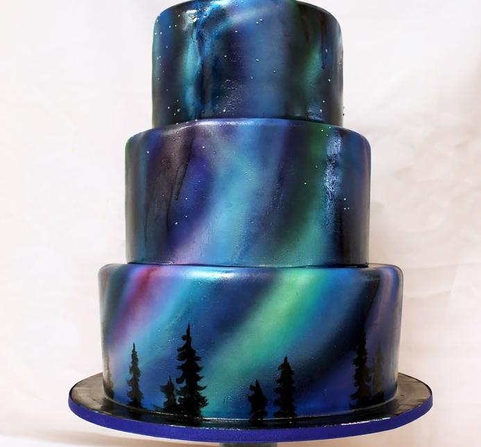 торт северное сияние