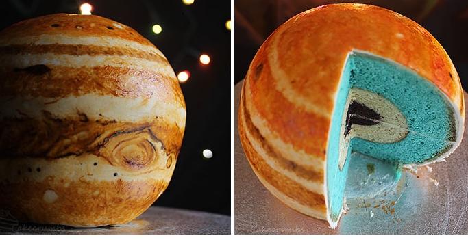торт в виде планеты Юпитер