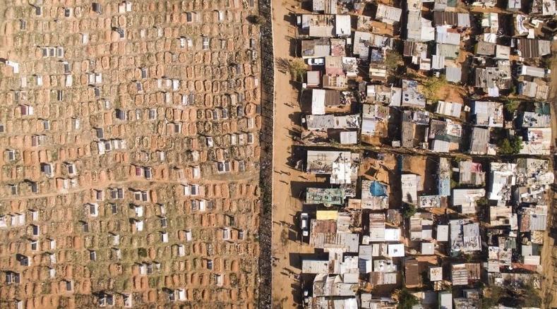 Кейптаун вид с беспилотника