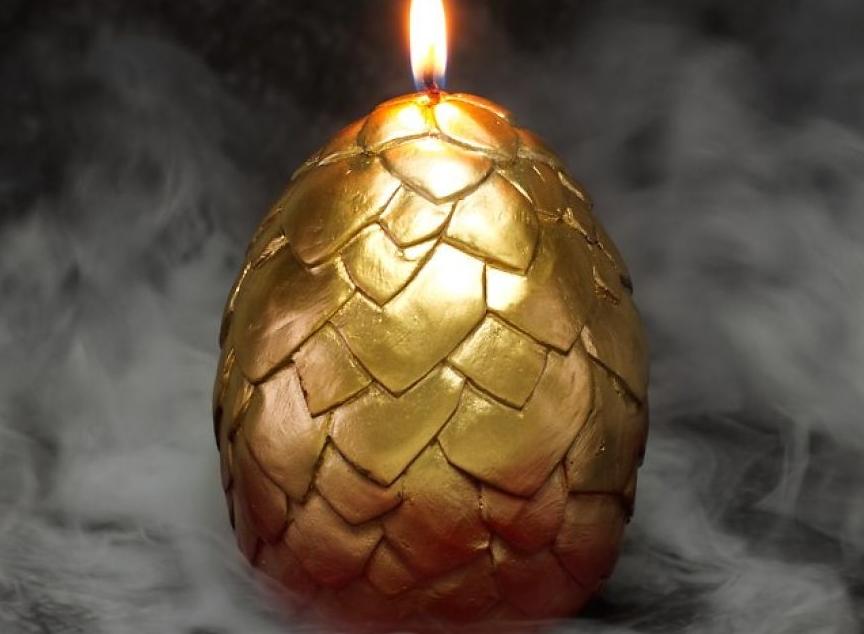 свеча яйцо дракона