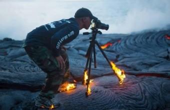 снимок фотографа на вулкане