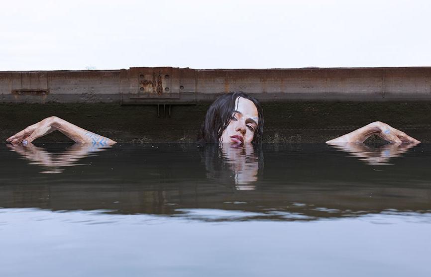 стрит-арт на берегу рек