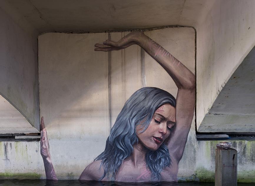 стрит-арт под мостом