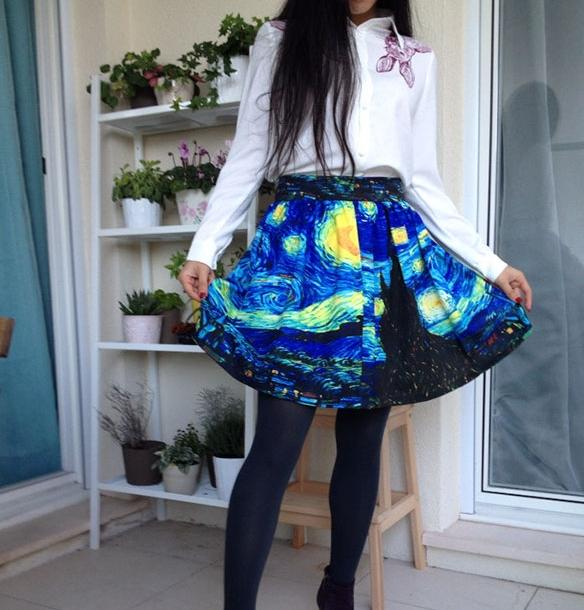 необычный принт для юбки