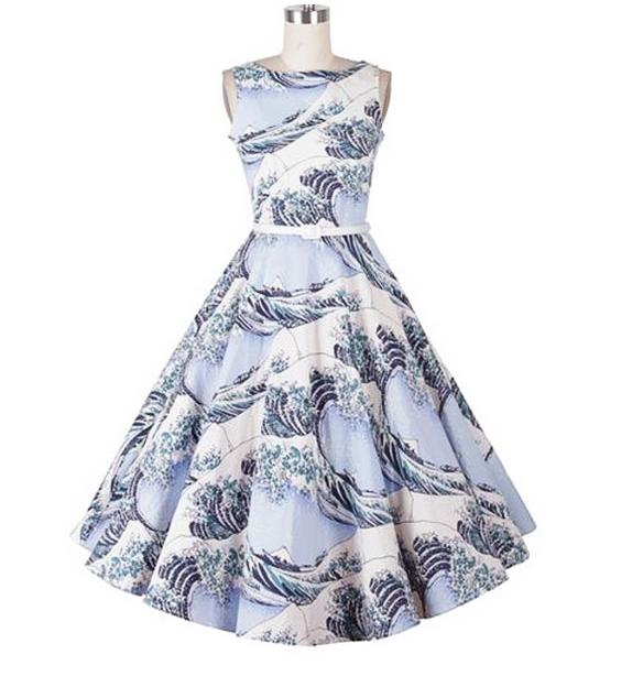 необычный принт для платья