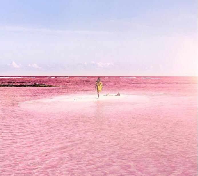 фото розовой лагуны
