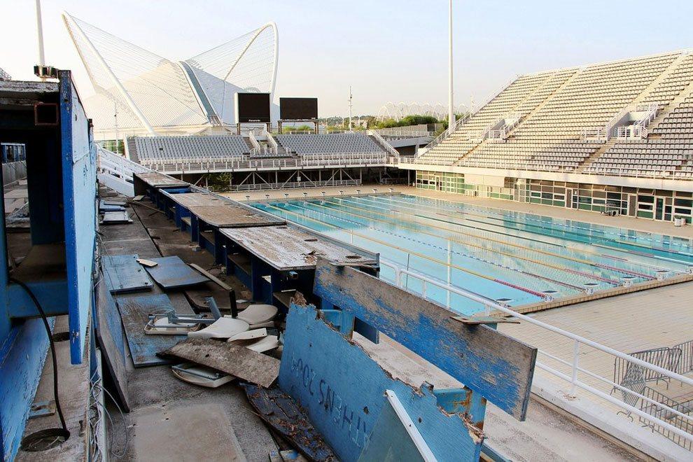 главный бассейн олимпийских игр в Афинах сегодня