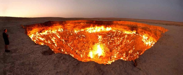 кратер Дарваза в Туркменистане