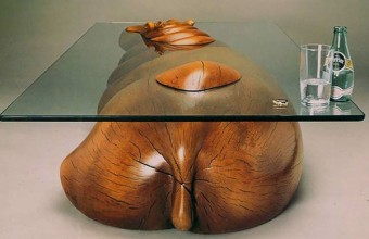 необычный стол на кухню