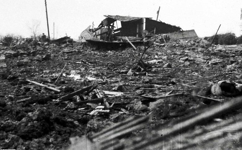 последствия взрыва в Хэнбери Англия