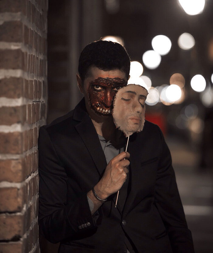необычная маска на хэллоуин
