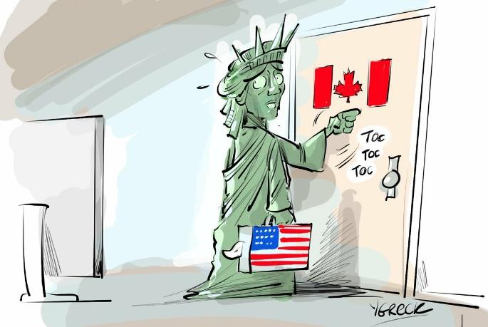 Америка после избрания Трампа, карикатура.