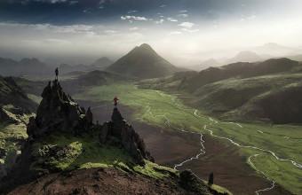 Фото области Ландманналаугар в Исландии