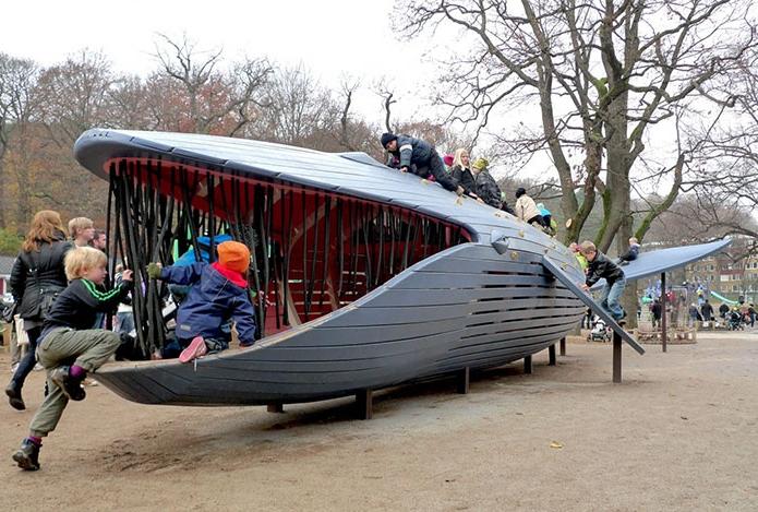 детская площадка синий кит