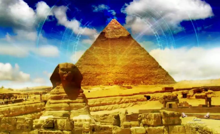 фото сфинкса и пирамиды