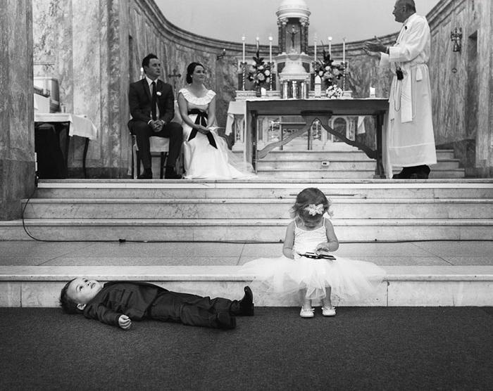 дети уставшие от свадьбы