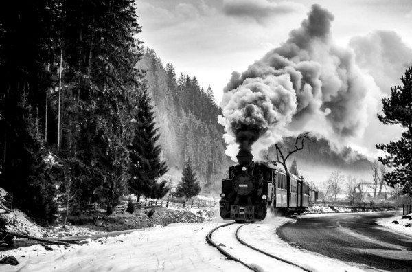 поезд в Румынии