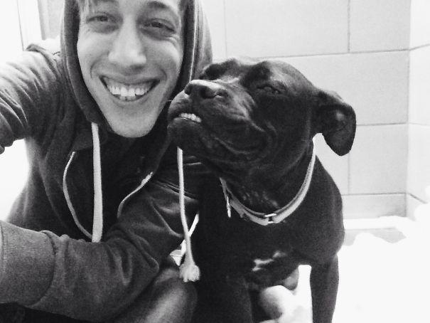 парень и пес