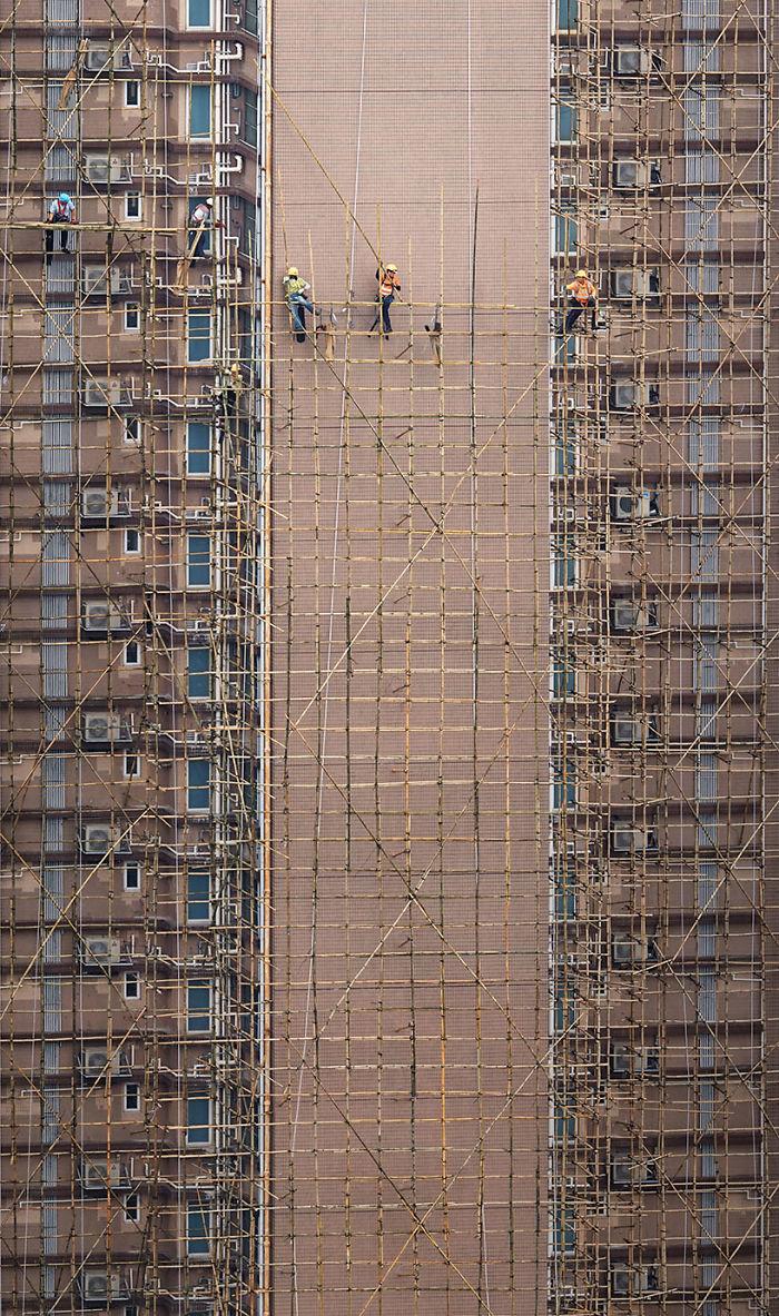 строительные леса в гонконге