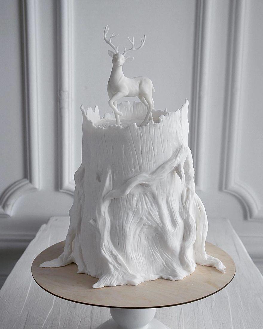 торт с оленем