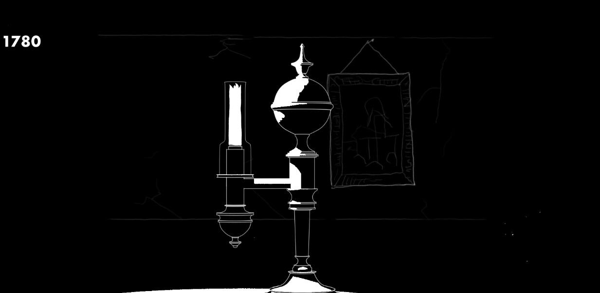 аргандова лампа рисунок