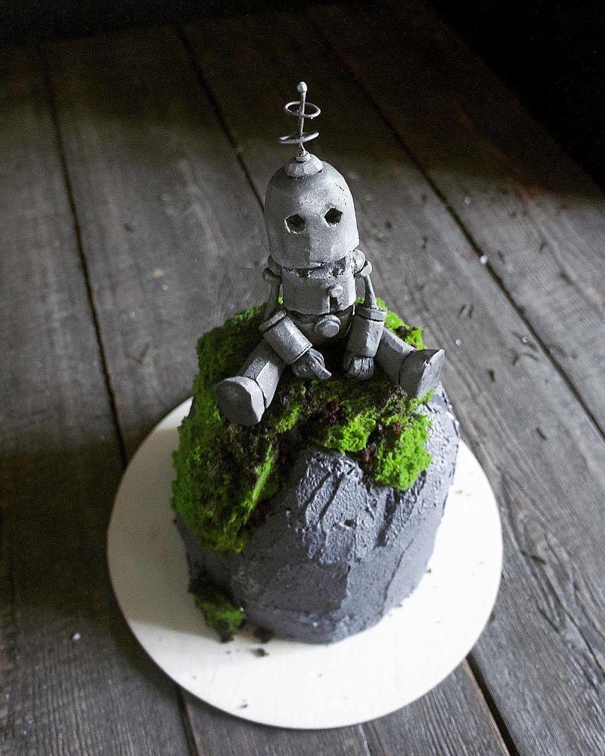 прикольный торт с роботом