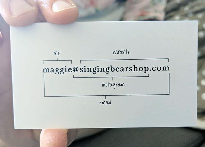 необычная визитка
