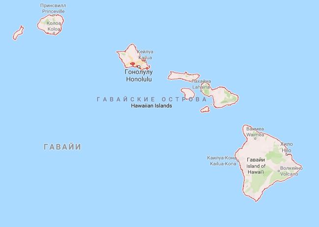 остров Оаху карта