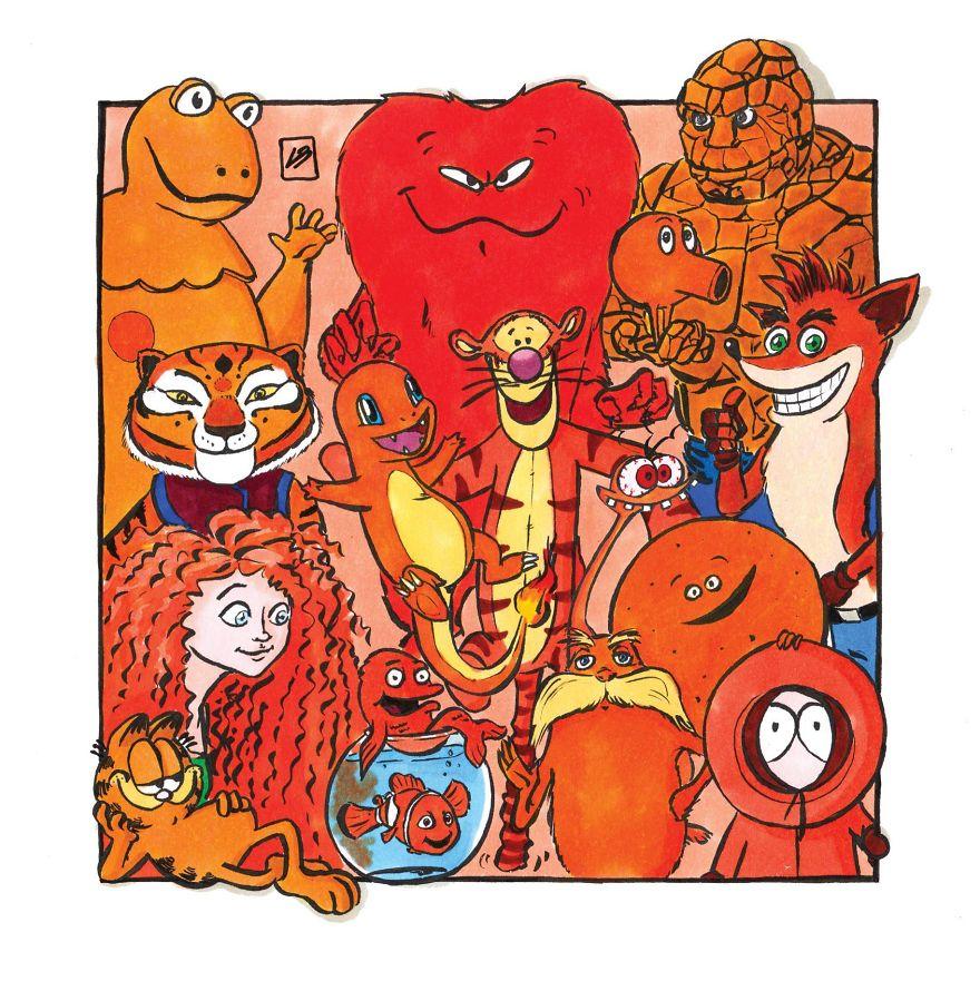 оранжевые герои мультиков